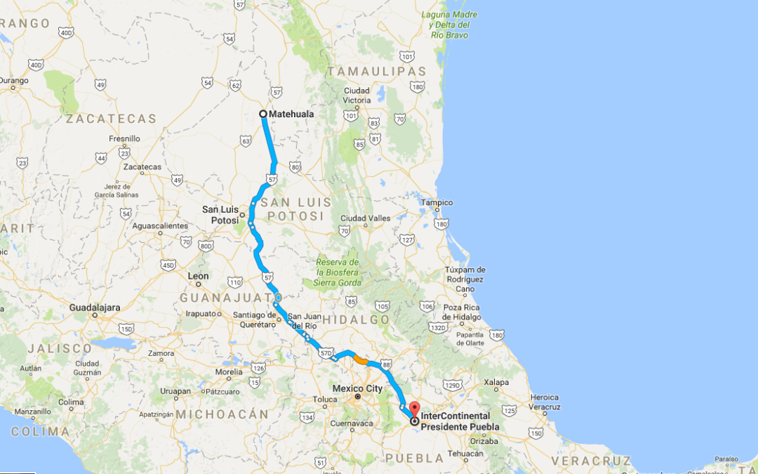 Matehuala to Puebla – Day 3 of our road trip